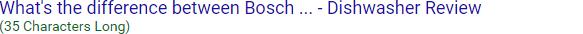 محدودیت های اندازه عنوان محتوا در گوگل