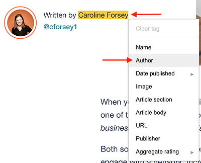 author tag google structured data