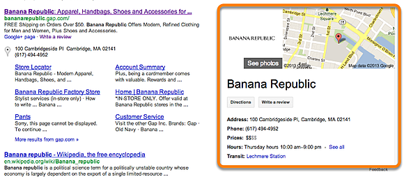 business google rich snippet