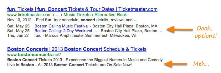event google rich snippet