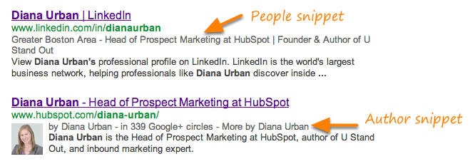 people google rich snippet