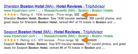 review google snippet